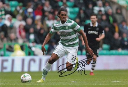 Jason Denayer, Glasgow Celtic & Belgium, signed 12x8 inch photo.